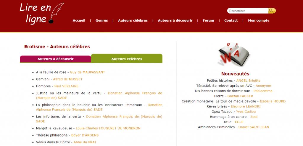 Ebooks erotiques gratuits sur lire en ligne
